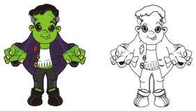 Couples de Frankensteins illustration libre de droits