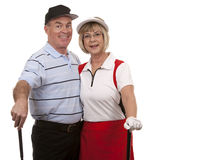 Couples de golf Image libre de droits