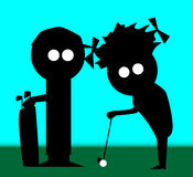 Couples de golf Photo libre de droits