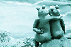 Couples de grenouille Photo stock