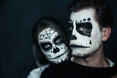 Couples de Halloween Photos libres de droits