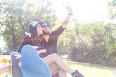 Couples de hippie photo libre de droits