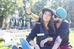 Couples de hippie images libres de droits