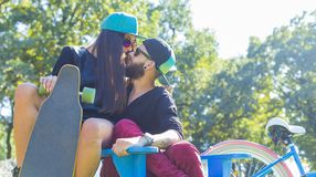 Couples de hippie photo stock