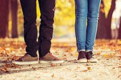 Couples de jambe de femme d'homme Image stock