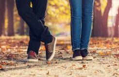 Couples de jambe de femme d'homme Photos libres de droits