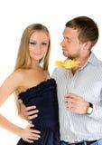 Couples de jeunes adultes heureux Image libre de droits