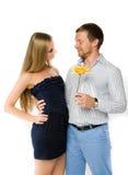 Couples de jeunes adultes heureux Image stock