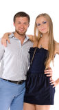 Couples de jeunes adultes heureux Photos stock
