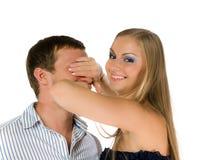 Couples de jeunes adultes heureux Photo libre de droits