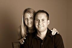 Couples de jeunes de verticale Image libre de droits