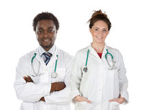 Couples de jeunes médecins photos libres de droits