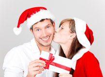 Couples de Joyeux Noël Image libre de droits