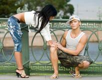 Couples de l'adolescence Photographie stock libre de droits
