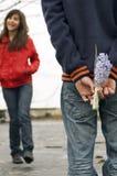 Couples de l'adolescence Photos stock