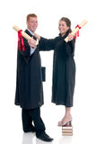 Couples de l'adolescence de graduation Images libres de droits