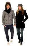 Couples de l'hiver Photo libre de droits