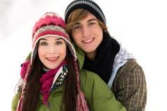 Couples de l'hiver Photo stock