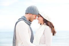 Couples de l'hiver Image libre de droits