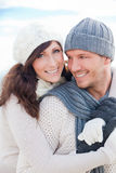 Couples de l'hiver Images libres de droits