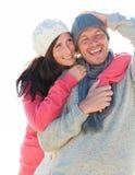Couples de l'hiver Image stock