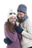 Couples de l'hiver Photos stock