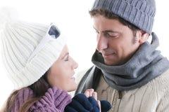 Couples de l'hiver Photographie stock