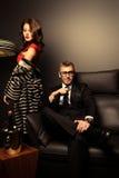 Couples de Mafia Photographie stock