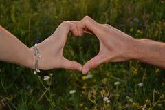 Couples de mains Photos stock