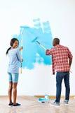 Couples de maison de peinture Photos libres de droits