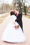 Couples de mariage au jour d'hiver photographie stock