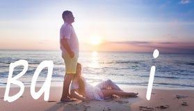 Couples de mariage chez Bali Image stock