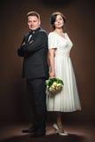 Couples de mariage des jeunes mariés Photographie stock
