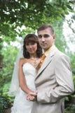 Couples de mariage extérieurs Photo libre de droits