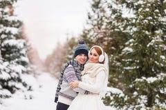 Couples de mariage extérieurs en hiver Image libre de droits