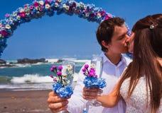 Couples de mariage juste mariés Photos stock