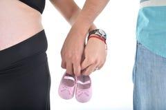 Couples de maternité attendant le bébé Image stock
