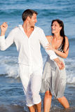 Couples de mer d'été Image libre de droits
