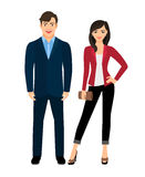 Couples de mode de style de bureau illustration libre de droits