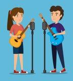 Couples de musicien de concert illustration stock