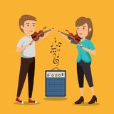 Couples de musicien de concert illustration libre de droits