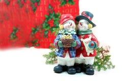 Couples de Noël Photographie stock