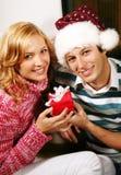 Couples de Noël Photos stock