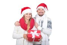Couples de Noël Images libres de droits