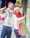 Couples de Noël Images stock