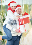 Couples de Noël Images stock