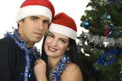 couples de Noël Images libres de droits
