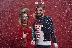 Couples de Noël Photo stock