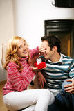 Couples de Noël Image libre de droits