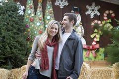 Couples de Noël Photos libres de droits